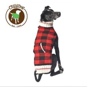 Chilly Dog Buffalo Plaid Wool Dog Sweater